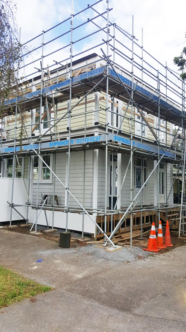residential scaffolding across Auckland